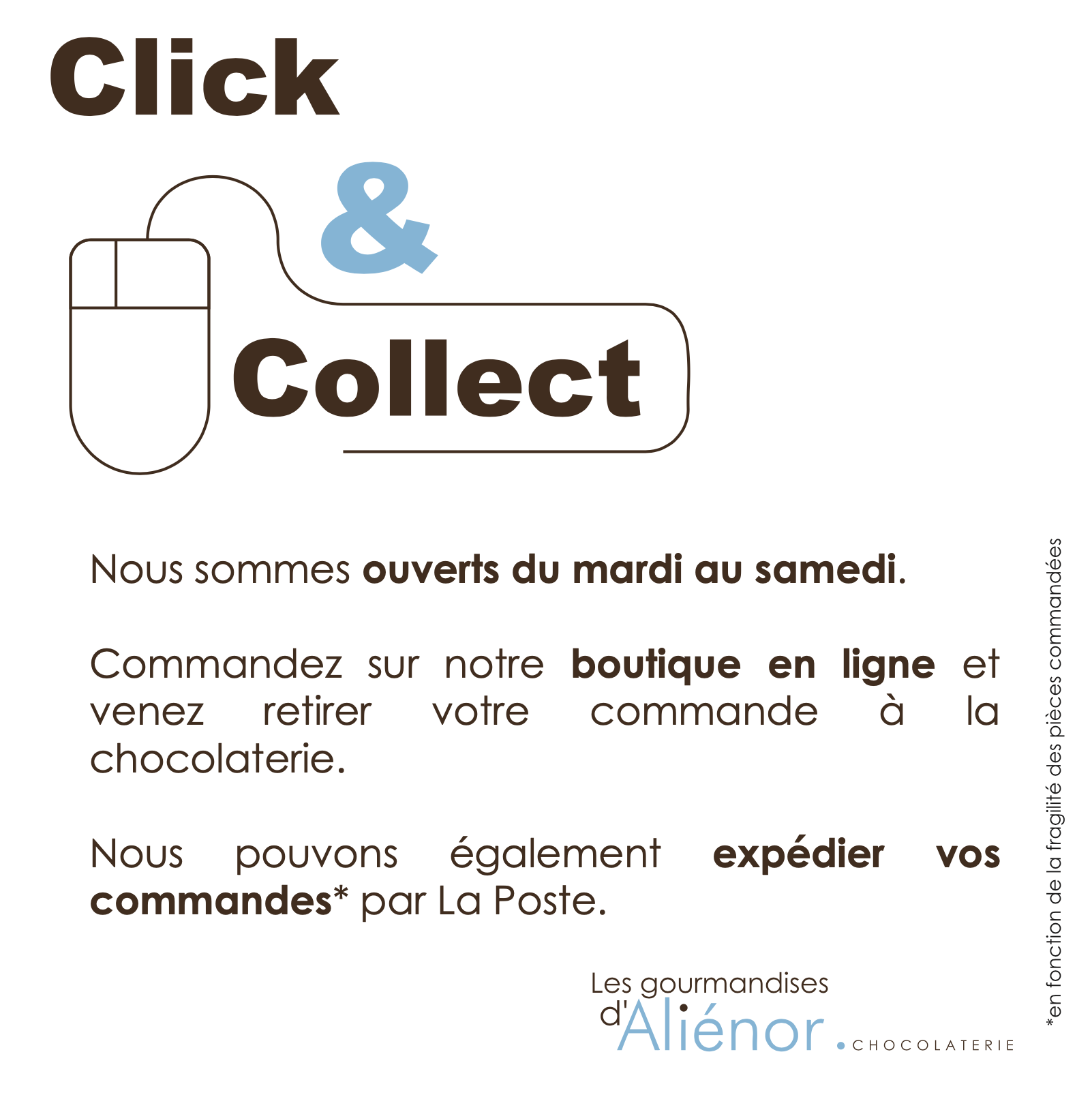 Click and Collect à la chocolaterie
